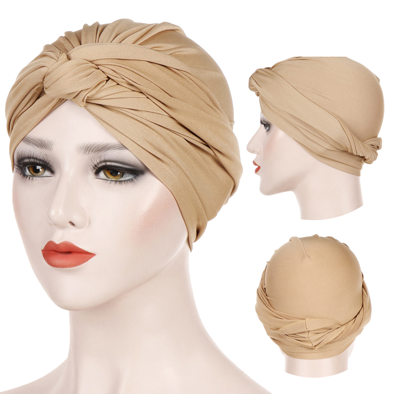 Solid Cotton Head Scarf For Women Muslim Jersey Hijab Cap Female Turban Africa Wrap Turbante Bonnet Islamic Clothing Accessories