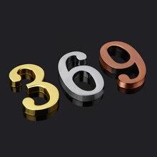 DIY 3D цифры металлический номер стикер дома цифры и буквы знаки дверная пластина Подгонянная 0-9 для квартиры вилла отель