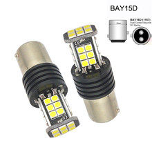 2 pçs 3030 24 smd led bulbo 1157 auto luz de condução sinal volta luzes freio branco reversa alta potência lâmpada luzes freio led canbus