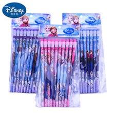 10 pces crianças lápis dos desenhos animados com borracha disney congelado elsa anna hb lápis ambientalmente amigável e não-tóxico