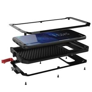 Image 3 - כבד החובה הגנת מקרה עבור סמסונג S9 S10 S20 S8 בתוספת S10e שריון מתכת אלומיניום סמסונג S7 S20 Ultra Note8 עמיד הלם כיסוי