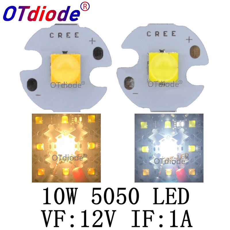 2PCS 10W 12V 1A Tdled Ceramic 5050 Cold White Warm White High Power LED Emitter Diode Instead Of CREE XML XM-L T6 LED For DIY