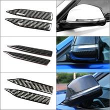 Углеродное волокно зеркало заднего вида анти потертые защитные полоски для BMW E90 E60 F30 F34 F10 F20 x1 x3 x4 x5 x6 автомобильная противоскользящая полоса
