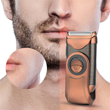 Portable Cordless Electric Shaver 3D Floating Rechargeable Razor Single Stainless Steel Blade Reciprocating Shaver for Men