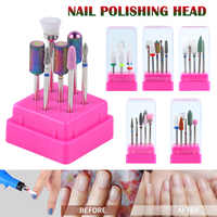 2019 Hot Sale Wholesale 7 Pieces Professional Practical Nail Drill Ceramics Tungsten Steel Alloy Bits Nail Grinding Head M3