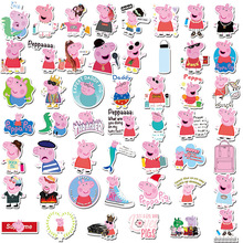 цена 50pcs/set Peppa Pig Sticker toy Patrulla Canina Action Figures Toy Kids Children Toys Gifts онлайн в 2017 году