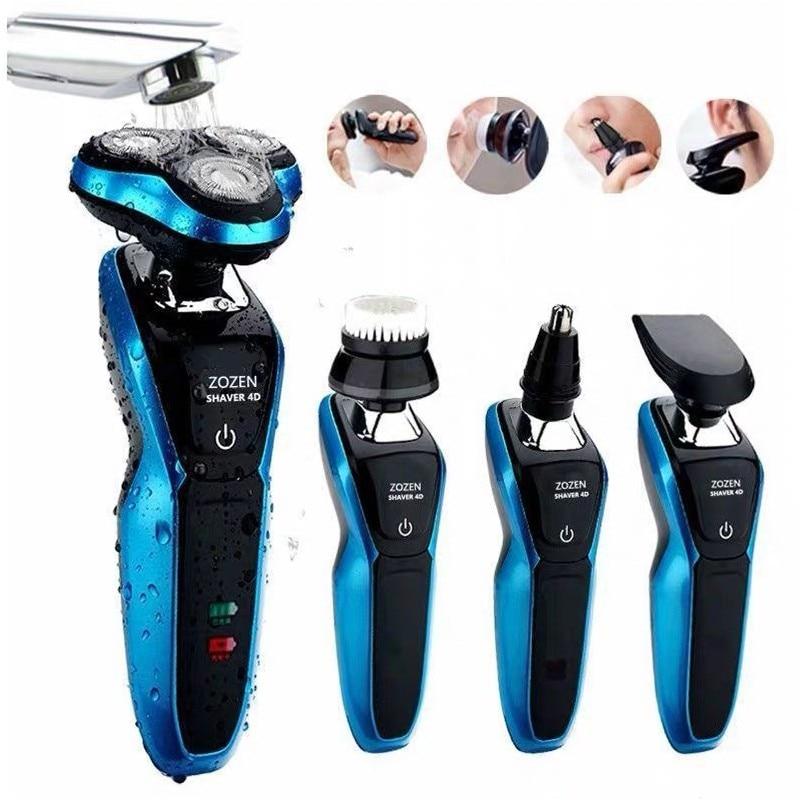 Electric Shaver Razor Men Washable USB Rechargeable Wireless 3D Smart Control Shaving Beard Machine Whole-Body Waterproof