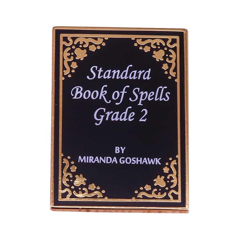 Стандартная Книга заклинаний булавка магическое колдовство значок литературная брошь книжный червь книжный подарок