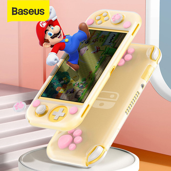 Baseus Soft Silicone Case for SW Lite Case for Nintendo Switch Lite Ultra Thin Game Console Full Cover Game Case Kep Cap Case
