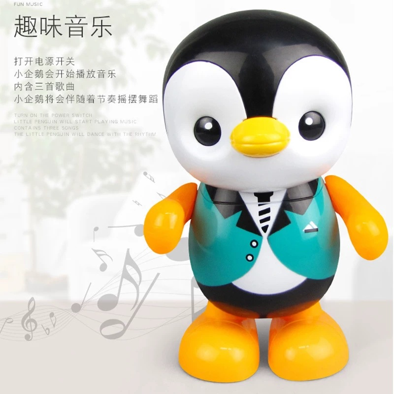 Douyin Small Yellow Duck Celebrity Style Will Dancing Singing Electric Penguin Male Baby 0-1-Year-Old 2-3 GIRL'S Infant Toys For