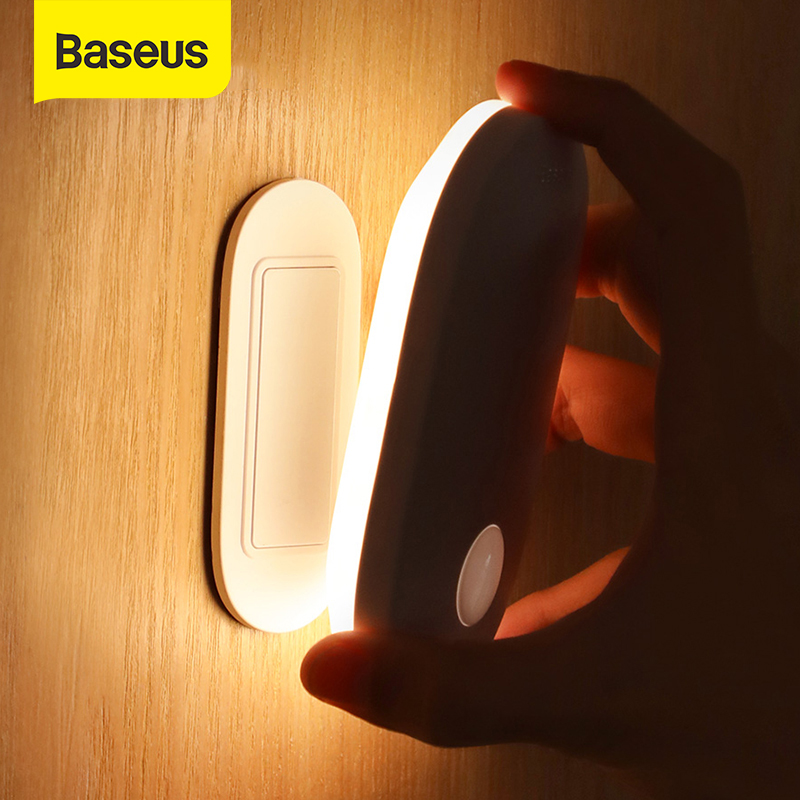 Baseus Smart Night Light Rechargeable LED Light PIR Intelligent Motion Sensor Body Automatic Induction Bedroom Closet Night Lamp