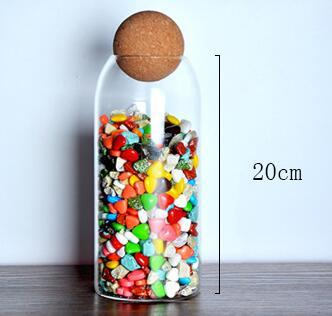 Ball cork lead-free glass jar with lid bottle storage tank sealed tea cans cereals transparent storage jars coffee contains 8