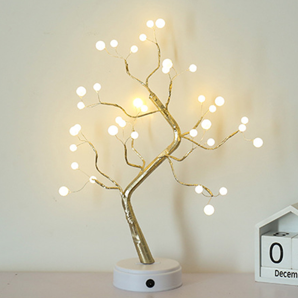 Copper Wire Touch Switch Control USB Charging Tree Shape Led Light 36leds 108leds Party Brightness DIY Firework Night Light