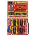 CNC щит V3/CNC Щит V4 гравировальный станок/3D принтер/A4988 Плата расширения драйвера для arduino Diy Kit