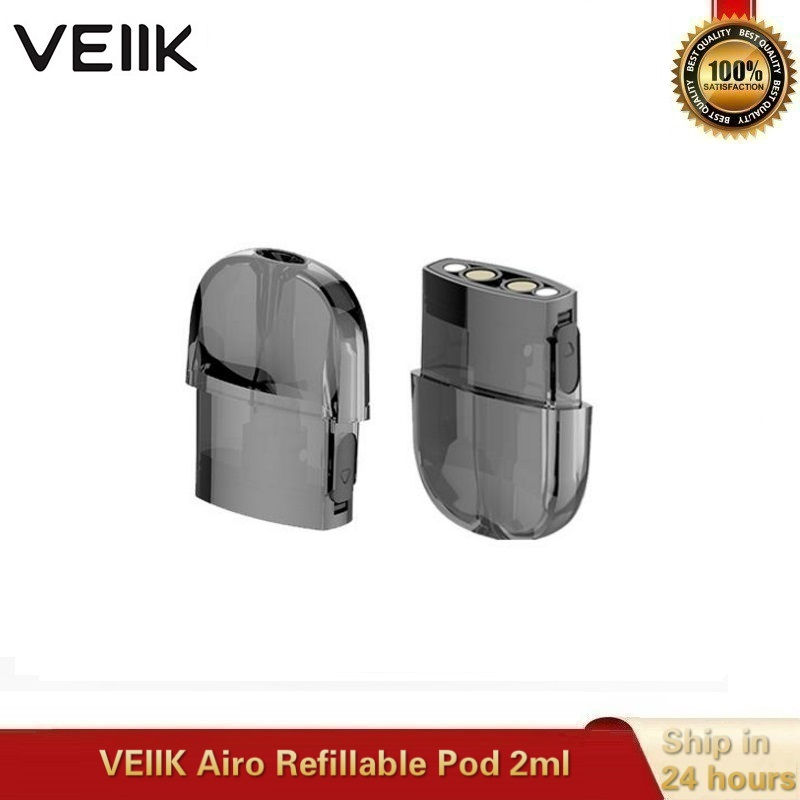 10pcs/lot Original VEIIK Airo Pod 2ml Replacement Empty Vape Cartridge 1.2ohm Coils For VEIIK Airo Pod Electronic Cigarette Kit