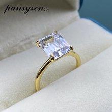Женское кольцо из серебра 100% пробы с фианитом 8 х10 мм