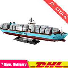 IN Stock 22002 1518Pcs Technic The Maersk Cargo Container Ship Building Blocks B
