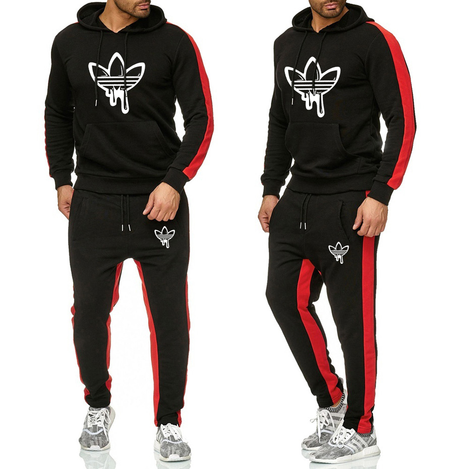 2019 New Sports Suit Men's Sportswear Loose Mens Autumn And Winter Fitness Competition Clothes Warm Running Skateboard Clothing