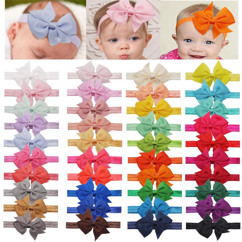 40 cores do bebê headbands arcos de cabelo náilon bandana para bebê meninas recém-nascido infantil crianças crianças