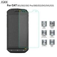 JGKK gato S62 Pro S52 S60 S61 S41 S42 S31 2.5D Protector de pantalla de vidrio templado para Caterpillar Cat S32 película protectora