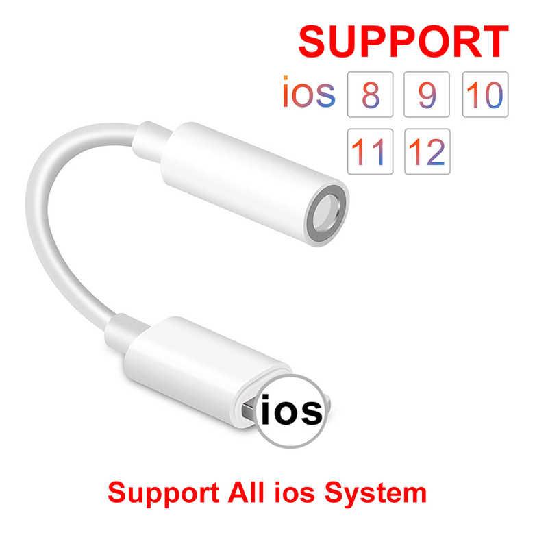 Żeńskie do 3.5mm męskie adaptery IOS 11 12 Adapter słuchawek do iPhone 7 8 X Adapter AUX do błyskawicy wtyczka słuchawkowa