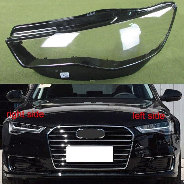 Reflektor przezroczysta osłona abażur reflektor Shell obiektyw reflektor szklana lampa Shell szkło dla Audi A6L C7 2016 2017 2018