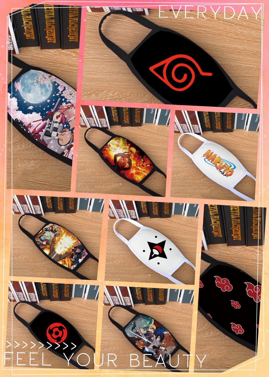 Fashion Anime Naruto Akatsuki Uchiha Itachi Sharingan Cosplay Masks Konoha Kakashi Teens Cotton Half Face Breathable Mask New