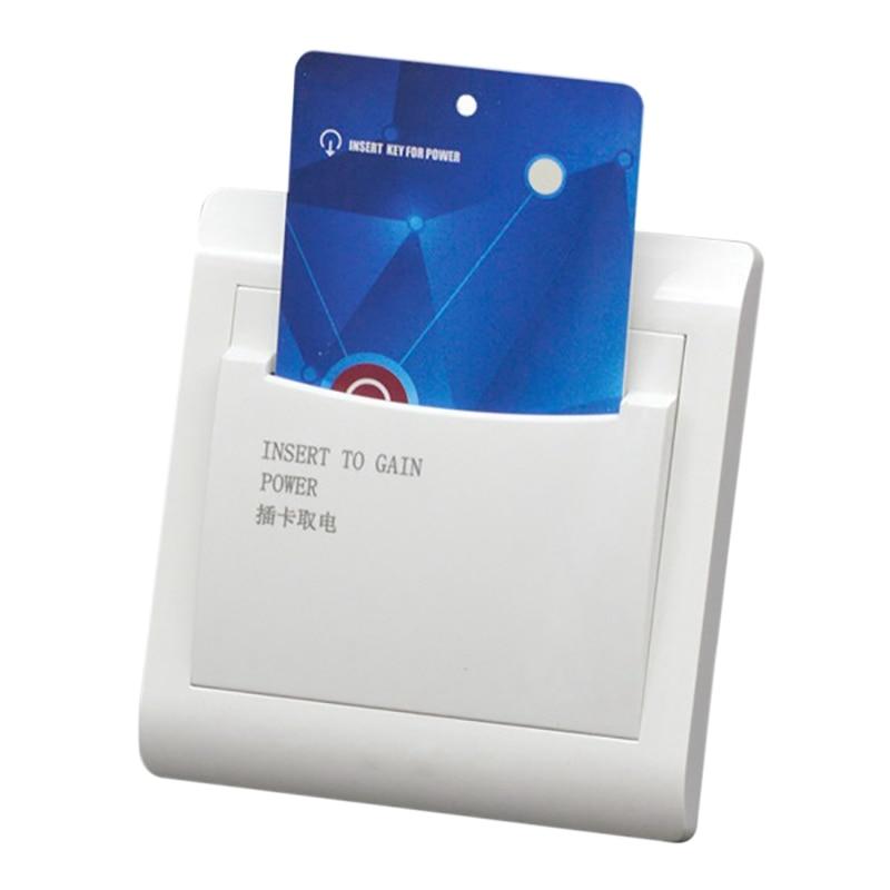 HTHL-Чехол-кошелек с 3 отель дом гостевая комната стены Reader переключатель 40A энергосберегающие вставить ключ для Мощность