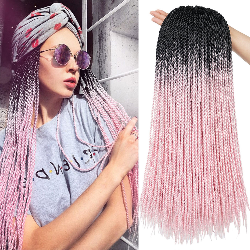 Ombre Crochet Senegalese Twist Crochet Braids Hair Synthetic Ombre Hair For African Woman Ombre Braiding Hair Extensions
