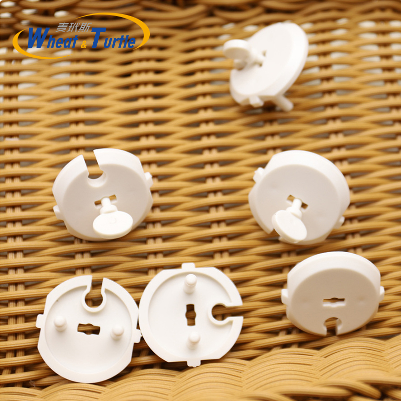 6pcs+1 Key France EU Power Socket Electrical Outlet Baby Children Safety Guard Protection Anti Electric Plug Protector Cover Cap