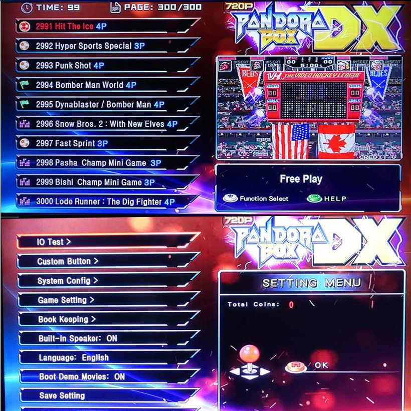 Caja PANDORA 3D DX 3000 en 1, juegos de mesa recreativos Retro, juegos de soporte Wireles Gamepad 3/ 4 jugadores DIY, placa base Arcade