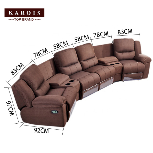 Karois R778 Home Theater Cheers Function Sofa Recliner Fabric Leather Sofa 4 Electric Recline Function 2