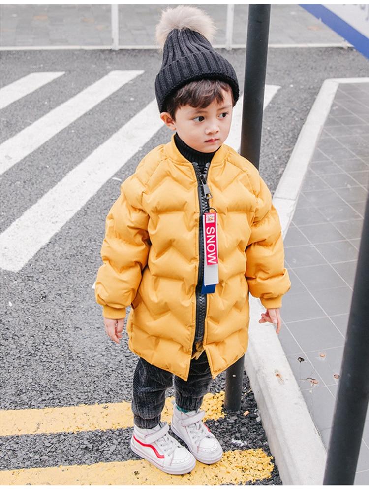 Children's down jacket winter new children's clothes comfortable warm boys coat girls coat frosted Kids coat Girl Parkas 4