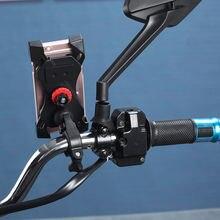 Soporte Movil moto Motorcycle Bicycle Support Telephone Navigation Holder Motobike handlebar Rearview Mirror Mount Clip Bracket