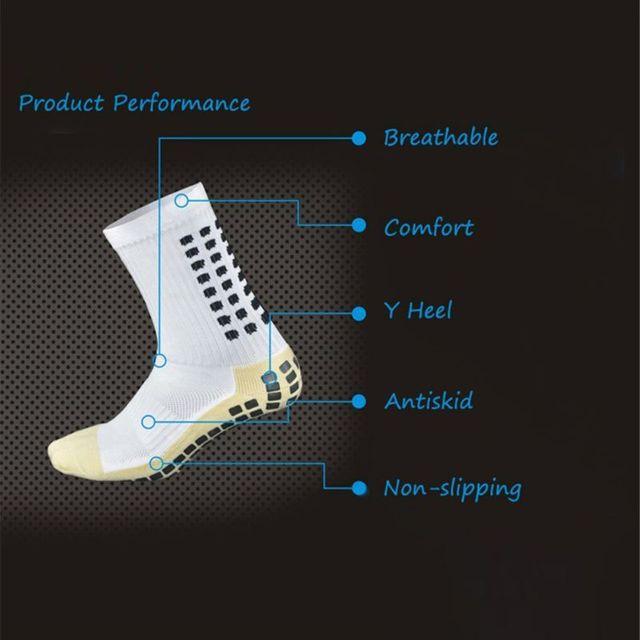 Anti Slip Soccer Socks Cotton Football Men Socks Calcetines The Same Type As The Trusox New Super Soft H6