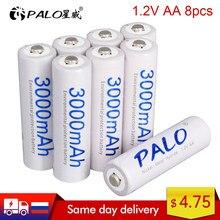 PALO – 2 à 24 batteries à courant haute capacité, rechargeables, originales, AA 2A, 1.2V, 3000mAh, AA 2A, nimh ni mh, ni-mh, 100%