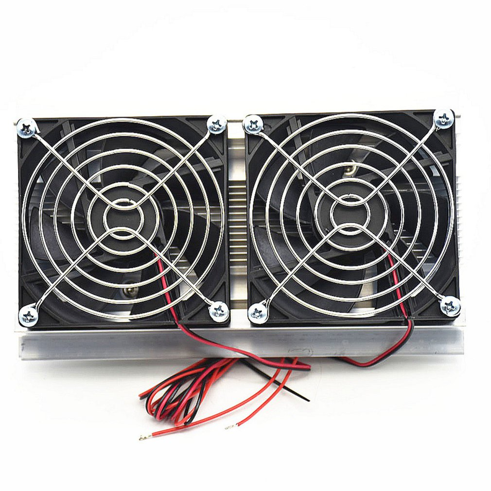 Thermoelectric Peltier Refrigeration Cooling System Kit Semiconductor Cooler Large Radiator Cold Conduction Module Double Fans