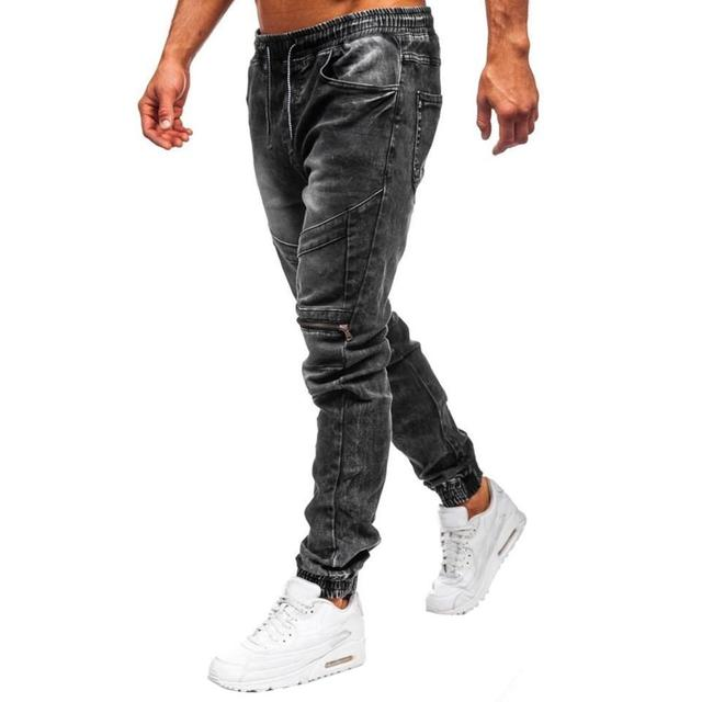 Cloudstyle New Men Jeans Slim Feet Pencil Pants Business Casual Tether Stitching Beam Feet Male Jeans Homme Regular Trousers Uncategorized Fashion & Designs Men's Fashion