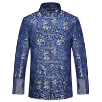 Traditional Chinese Clothing Tang Suit Wedding Jacket 2019 Red Silk Jacket Men Autumn Dragon Cheongsam Tops Plus Size 4xl
