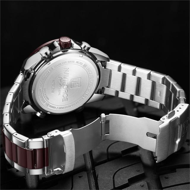 NAVIFORCE Luxury Brand Men Watch Military Sport Digital Quartz Clock Full Steel Waterproof Timepiece Relogio Masculino 2020 New
