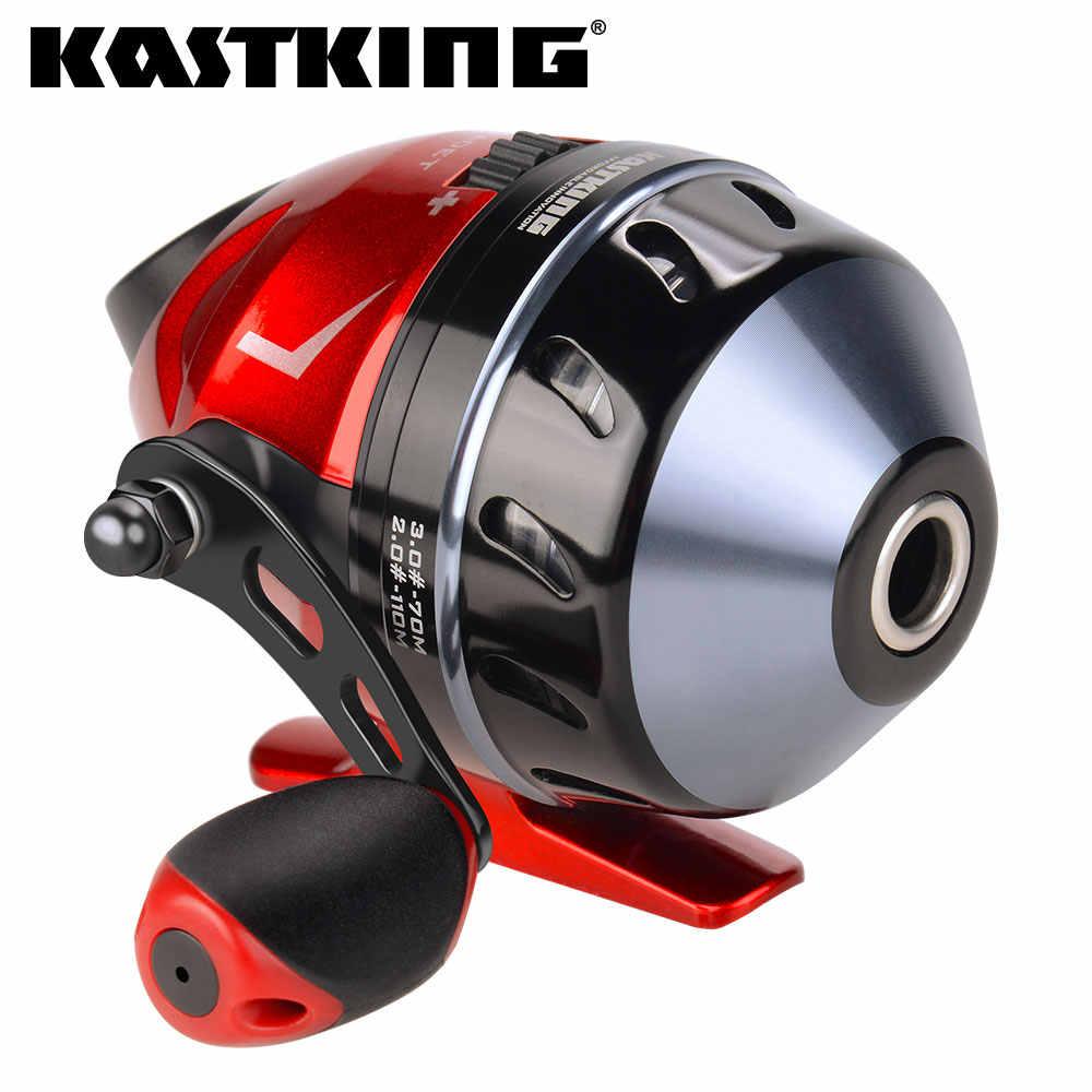 KastKing Cadet Spincast الصيد بكرة 3.1:1 نسبة والعتاد خالية من المتاعب دفع زر الطعم الصب تصميم مع 100 متر 10LB خط النايلون.