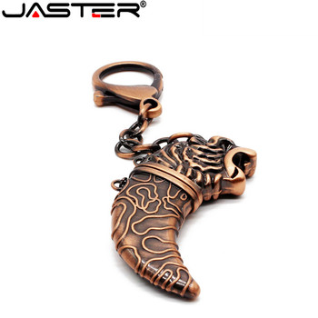JASTER New metal copper sabber USB flash drive knife Decoration keychain pendrive 4GB 8GB 16GB 32GB 64GB U disk  memory stick