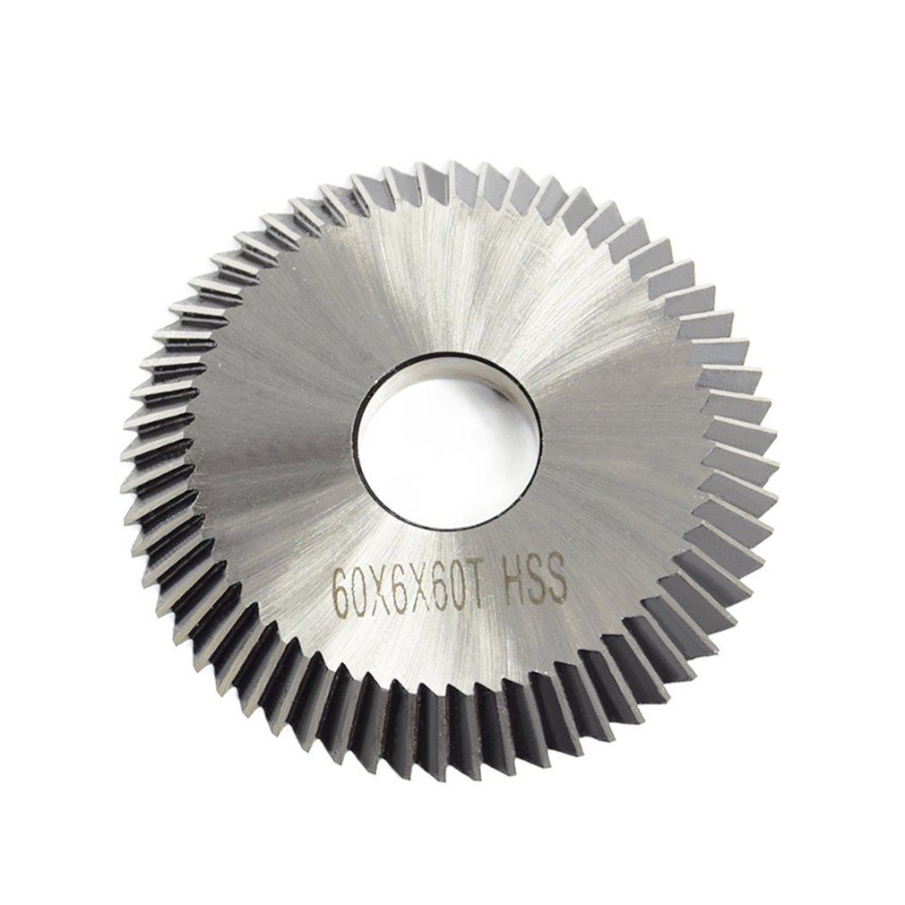 60T High Speed Steel Cutting Blade Double-sided Tooth Carbide Cutting Discs Cutting Tool For Steel Aluminum Wood Plastic