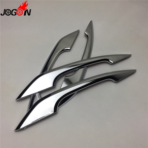 Image 3 - Glossy Chrome For Audi A4 S4 RS4 B9 A5 S5 RS5 2017 Q5 FY 2018 2019 Car Styling Door Side Handle Molding Cover Trim Accessories