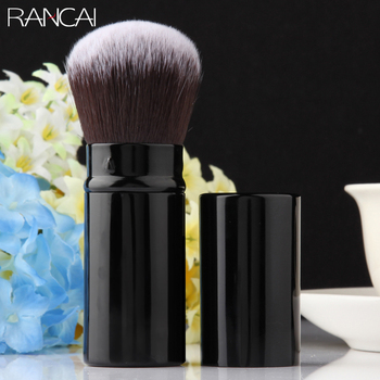 RANCAI 1pcs Professional Makeup Brushes Retractable Blusher Powder Foundation Face Eyes Concealer Kabuki Brush Cosmetic Tools beili complete professional 25 pieces foundation powder concealer eyes hadow makeup brush set