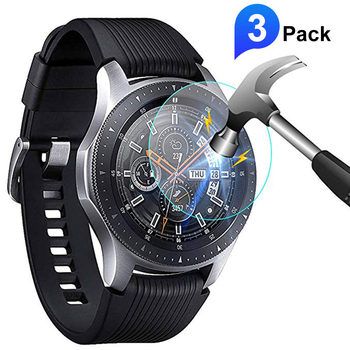3/1pcs Upgraded Tempered Glass Screen Protector For Samsung Galaxy Watch 46mm 42mm 9h Protective Glass Film for Gear S3 S2 2pcs pack tempered glass screen protector watch screen protective films for samsung galaxy watch 42 46mm