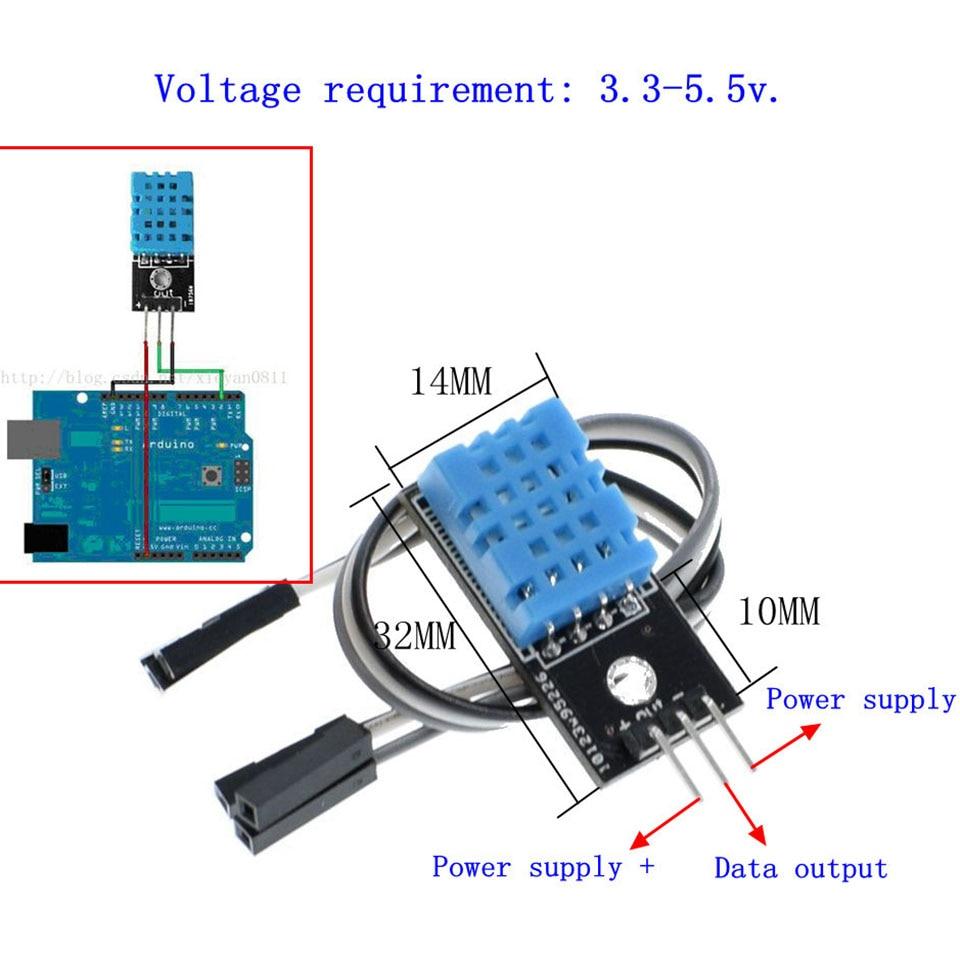 DHT11 Digitale Temperatur Und Relative Feuchtigkeit Sensor Modul für Arduino DIY Starter Kit Mit Dupont Draht 5V DIY