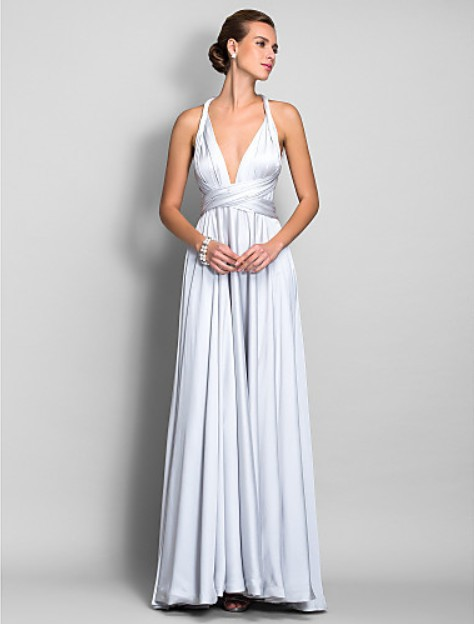 Hot New Fashion 2018 Sexy Deep V-neck Vestido De Festa Casual Brief Floor Length Elegant Party Gown Long Bridesmaid Dresses