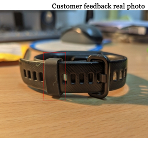 Image 5 - Ecsem 16mm רצועת Keeper לכבוד 4 להקת סיליקון לולאה שעון החלפה התמך חישוק גומי מקדמה בעל ביטחון