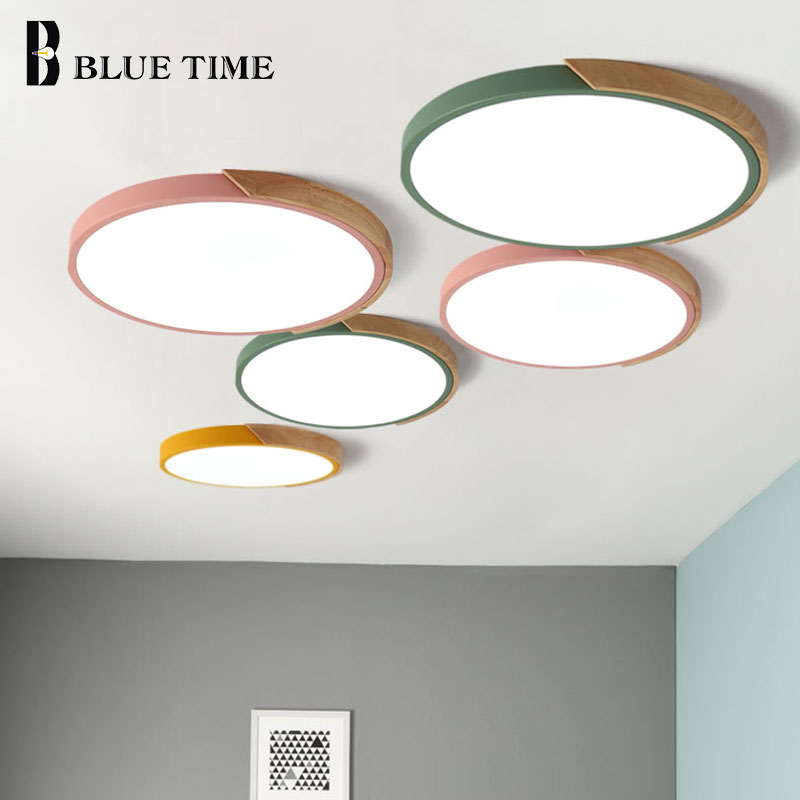 Modern LED Luz de Teto Para Iluminação Sala de estar Quarto Cozinha Montagem Em Superfície Lâmpada Do Teto Preto Branco Cinza 110v 220v